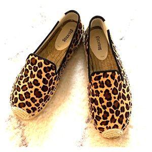 Leopard print espadrille. Size 8
